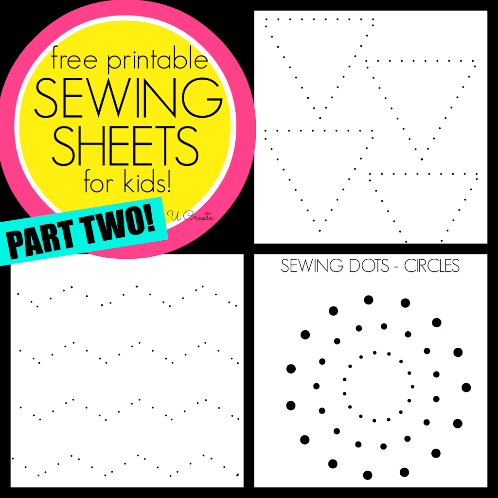 Sewing Sheets For Kids Part Two Like Dot To Dots But For