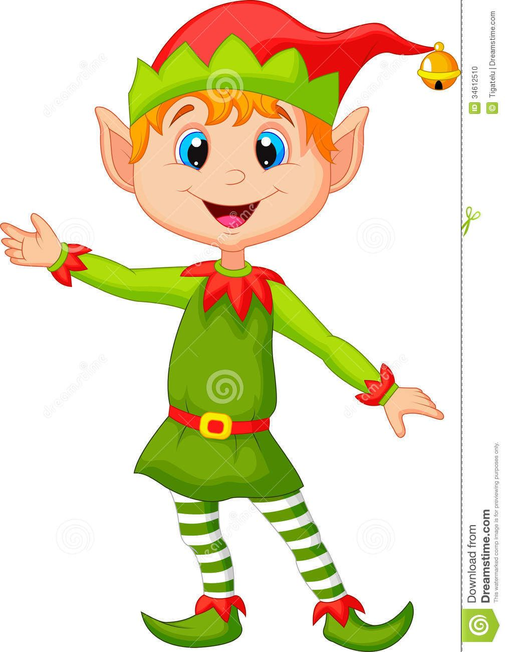 Christmas elf Illustration of Cute christmas elf cartoon