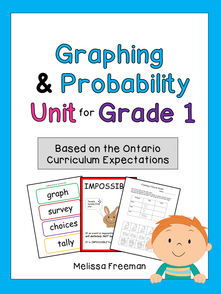 Graphing & Probability Unit for Grade 1 (Ontario