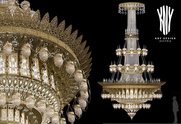 Very Large Crystal Chandelier For Grand Mosque By Kny Design Austria One Of The World S