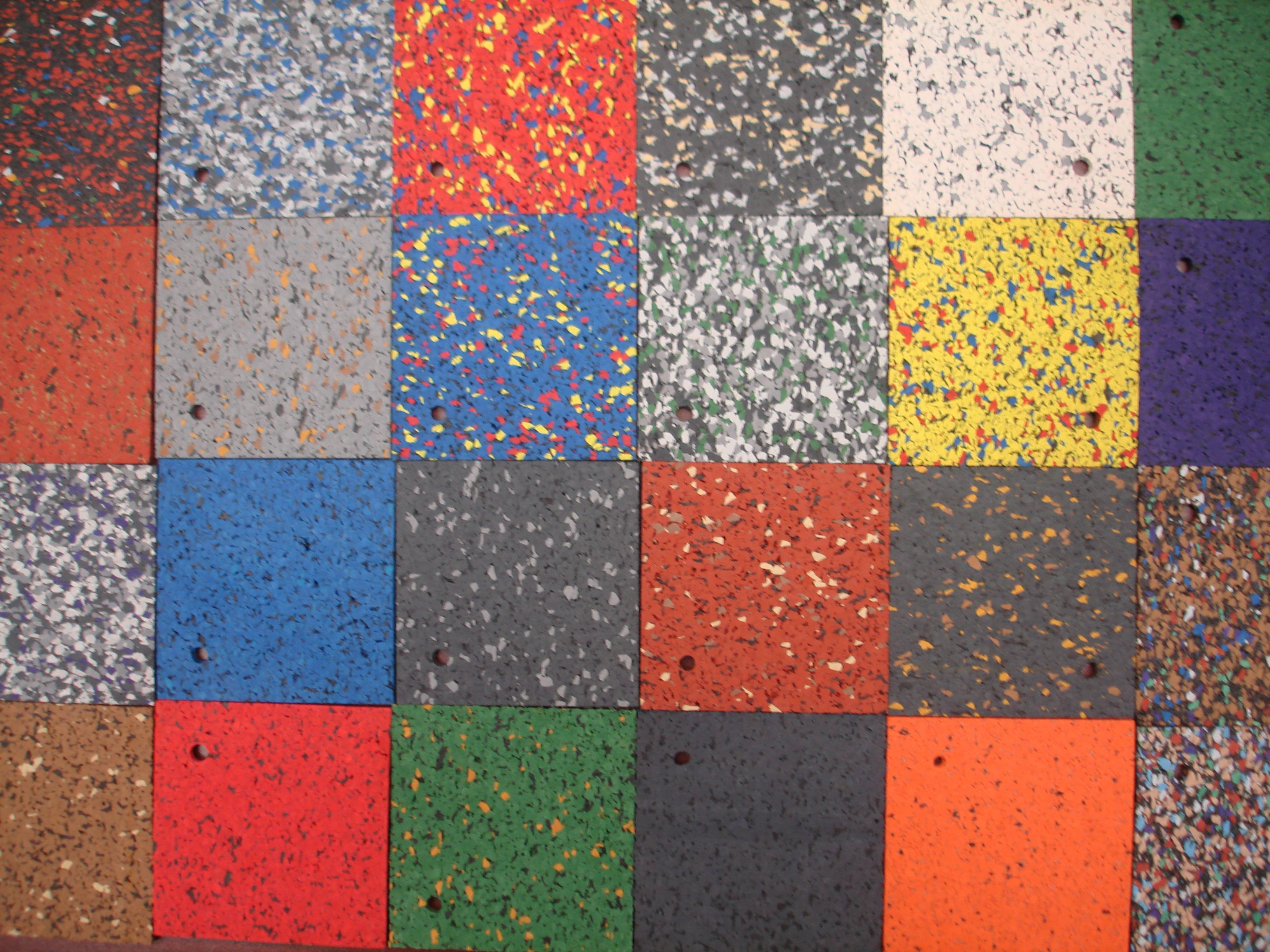 Flooring Colorful Outdoor Recycled Rubber Flooring Tile