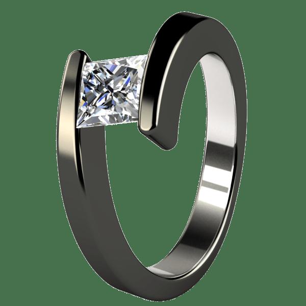 black metal engagement ring Black Titanium Rings