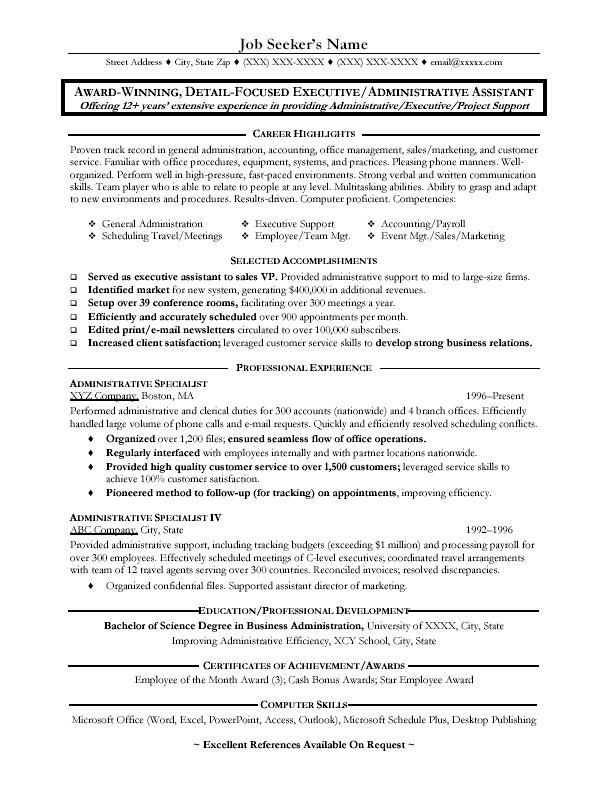 1000 images about resume on pinterest administrative assistant