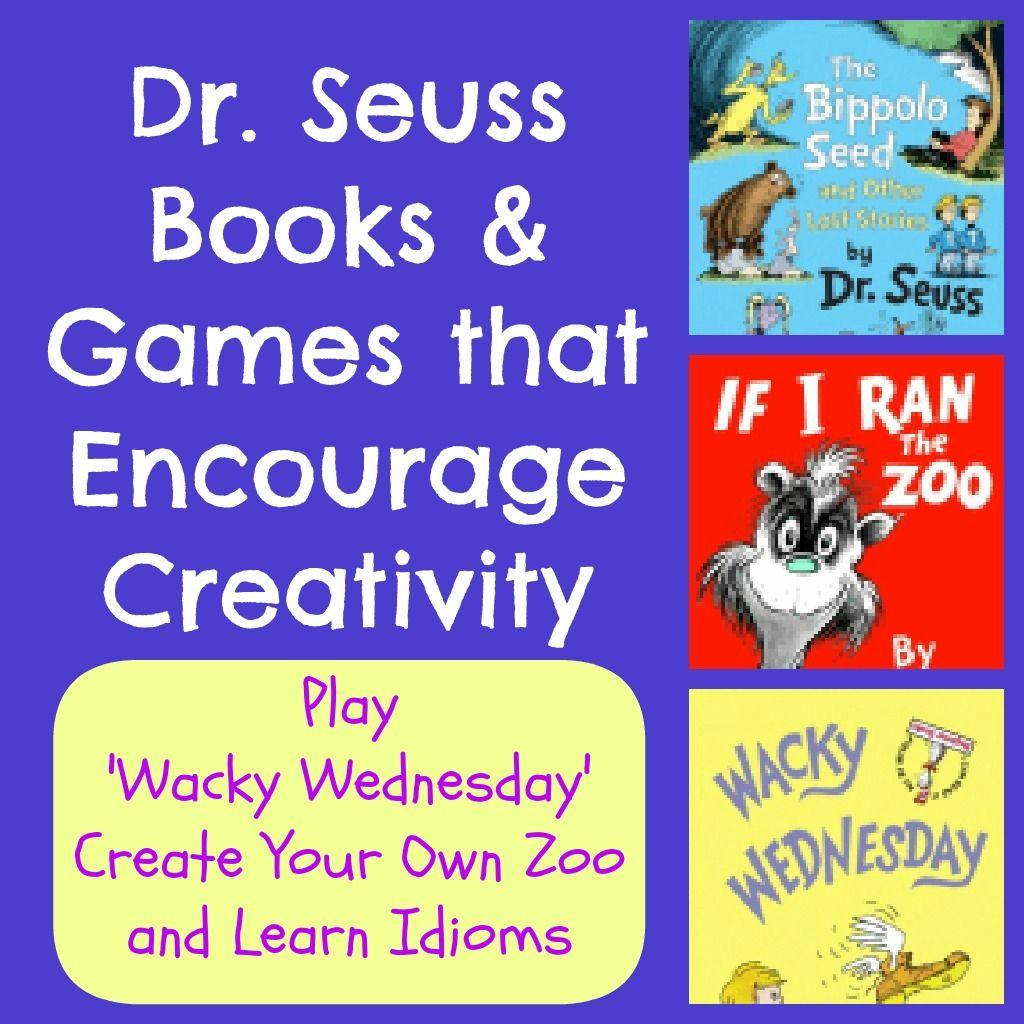 Dr Seuss Activities Wacky Wednesday Ideas Zoo Game Amp Idioms