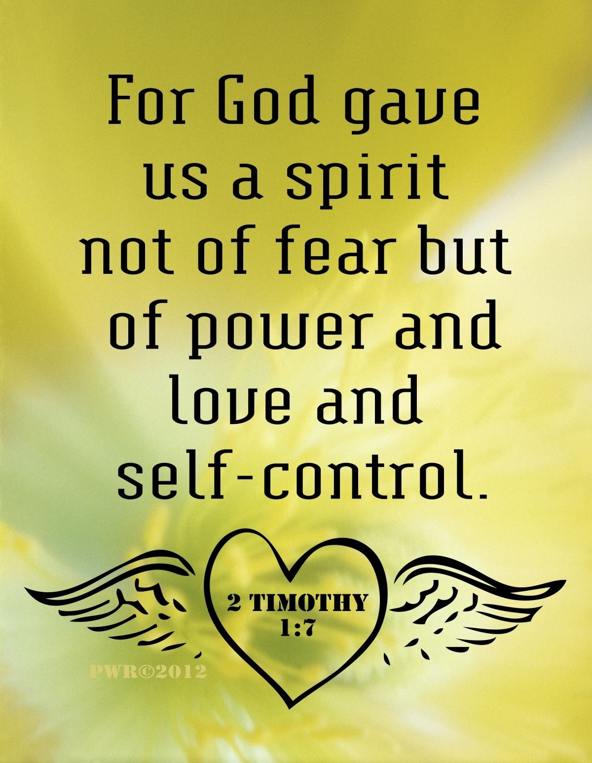 Love And Self Control 2 Timothy 1 7