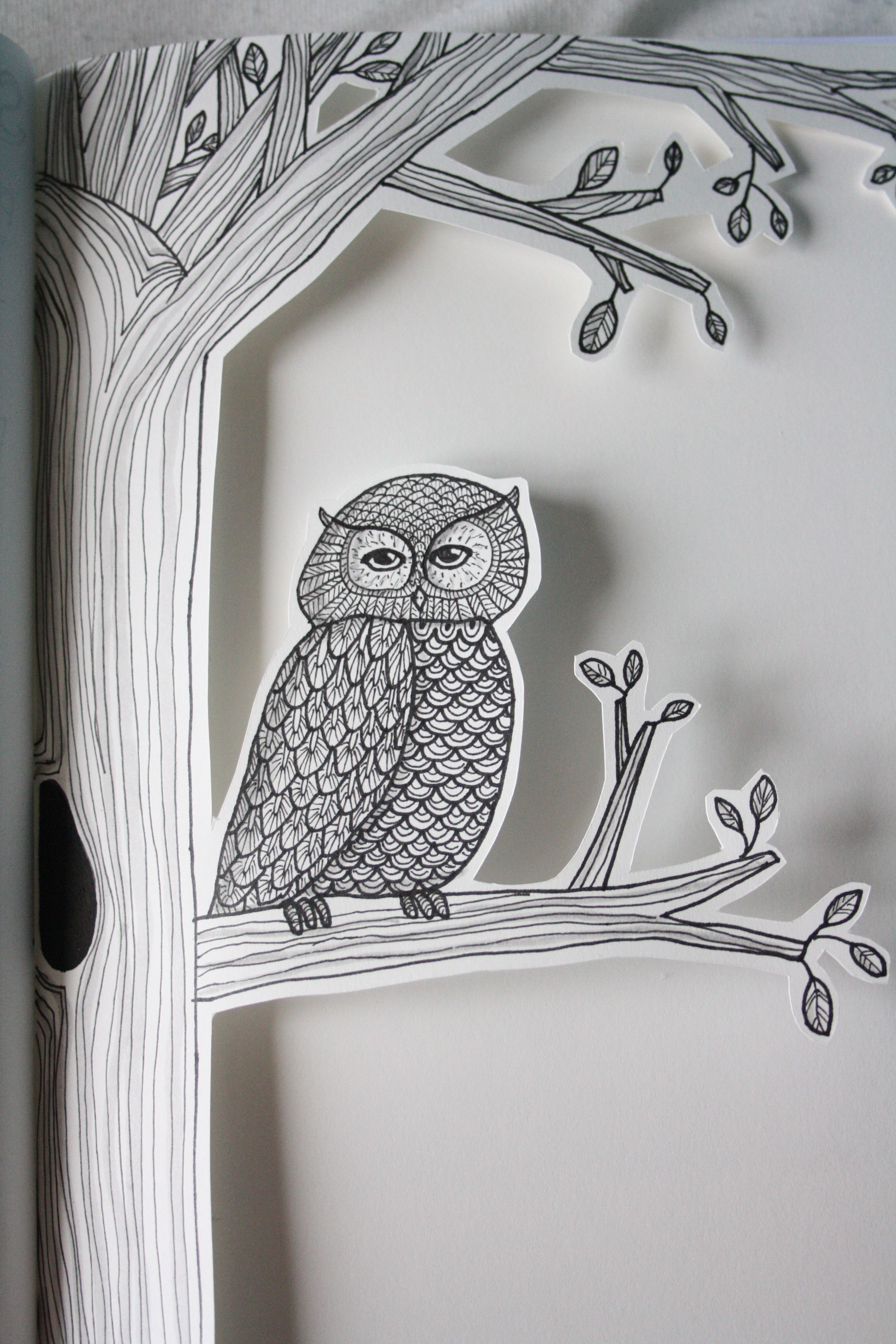 Owl cut out Mine Pinterest Owl