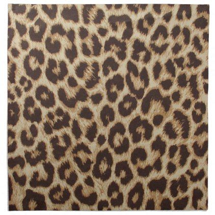 Leopard Print Cloth Dinner Napkins - The Best Leopard Of 2018