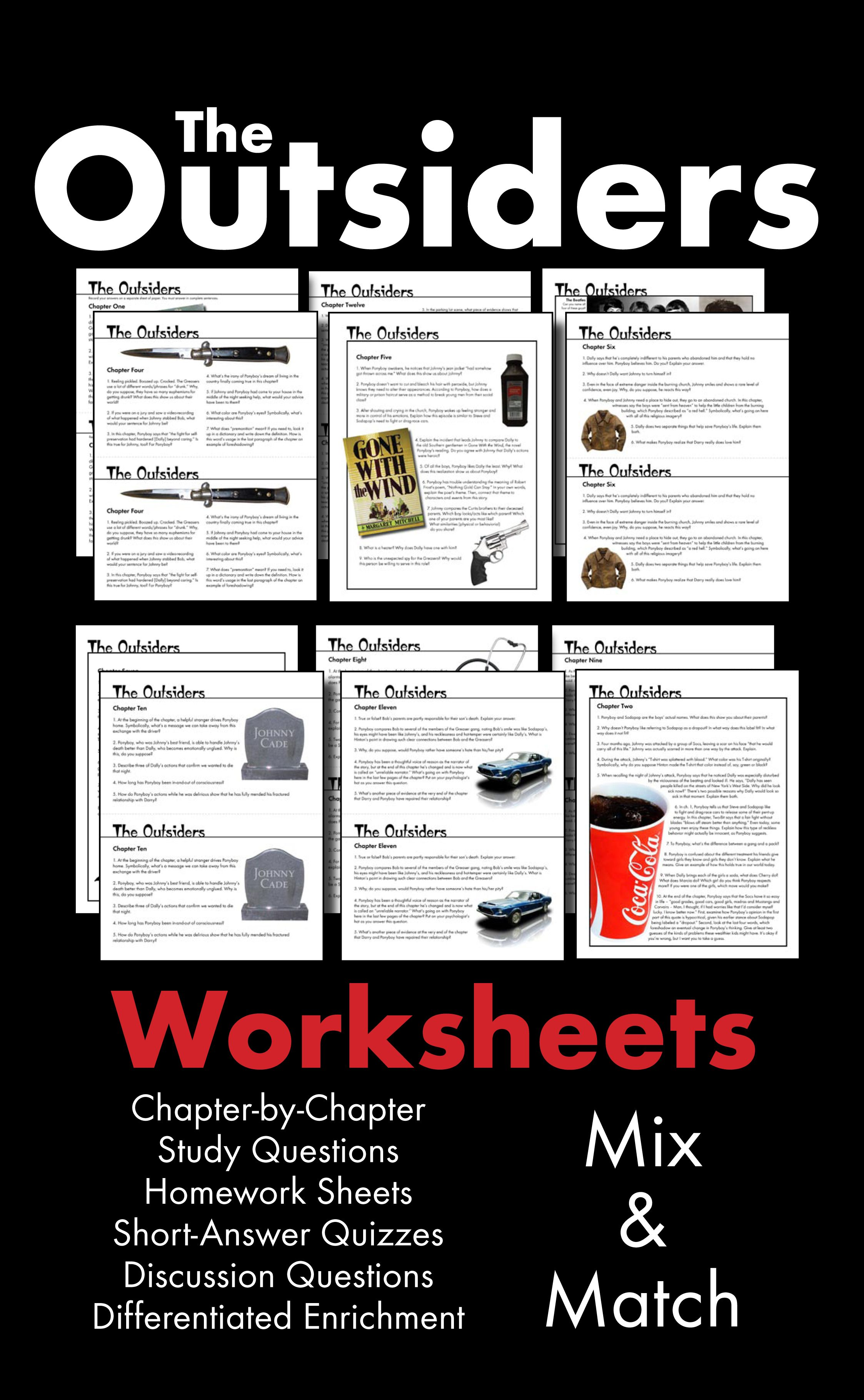 Outsiders Worksheets Quizzes Homework Amp Discussion S E