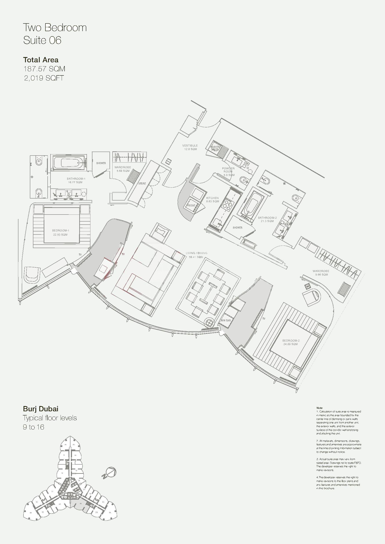 Armani Hotel Floor Plans