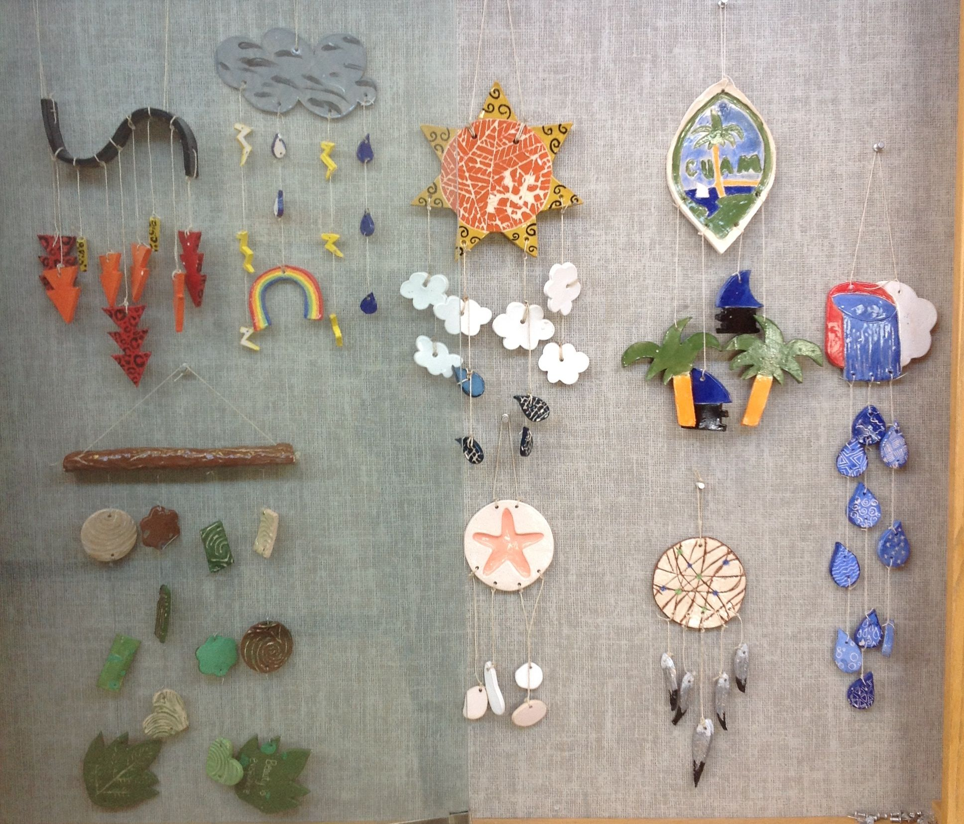 Great High School Intro To Ceramics Project Wind Chimes Students Worked Hard