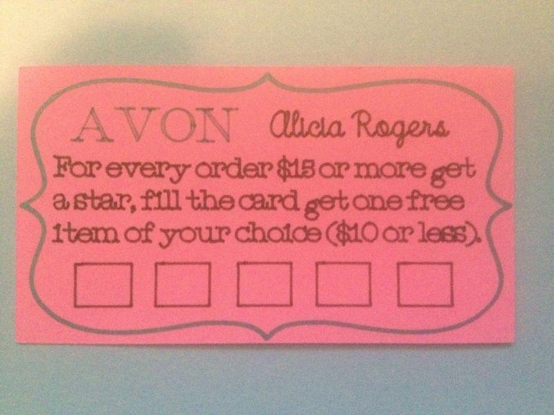 Avon loyalty card cricut