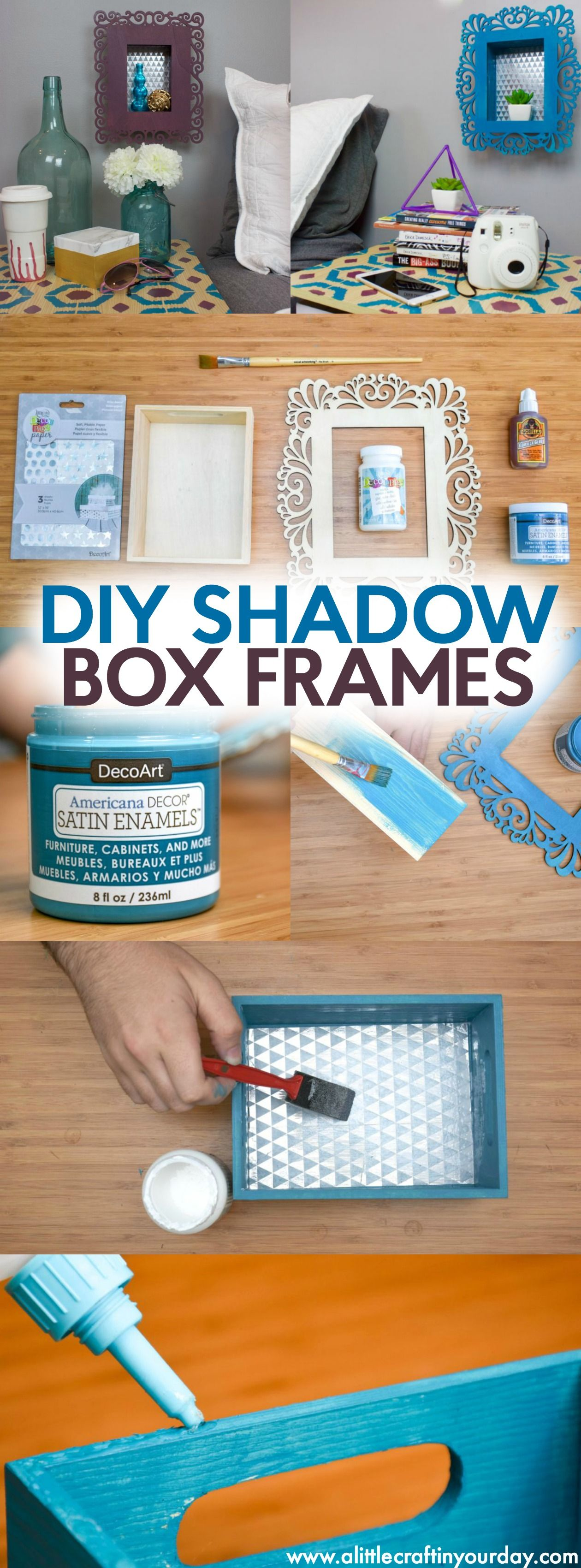 DIY Shadow Box Frames Shadow box frames, Shadow box and