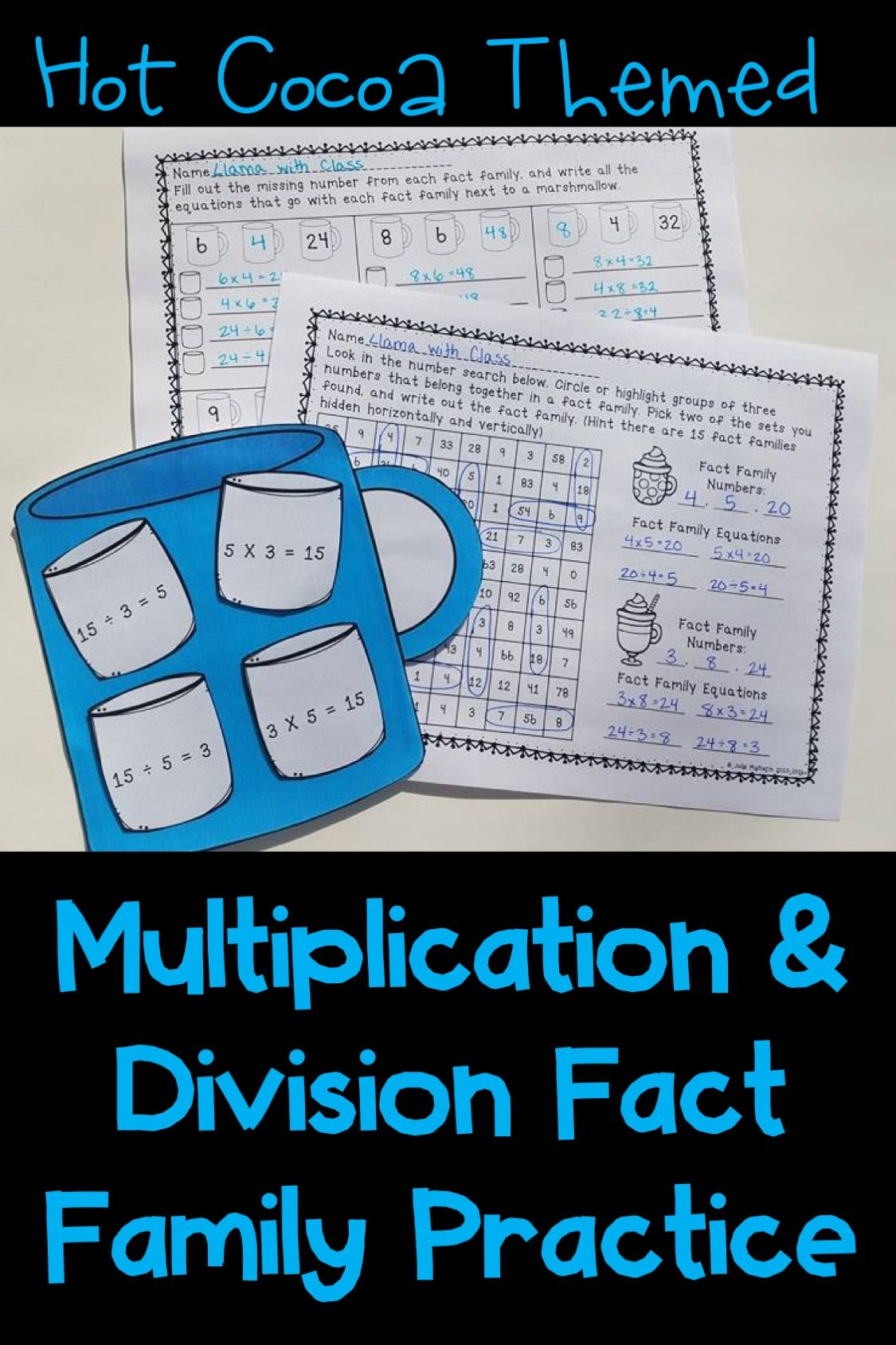 Multiplication Amp Division Fact Families Practice