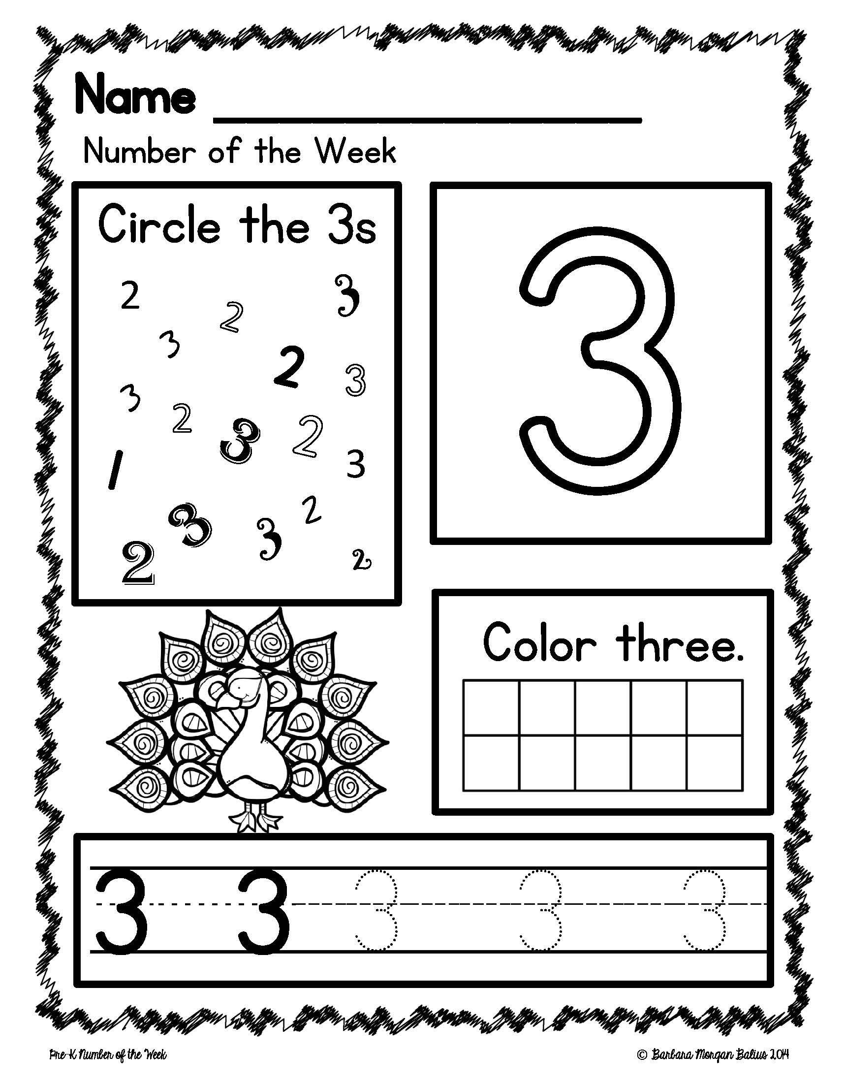 Pre Kindergarten Math Numbers 1 5 Number Of The Week Zoo