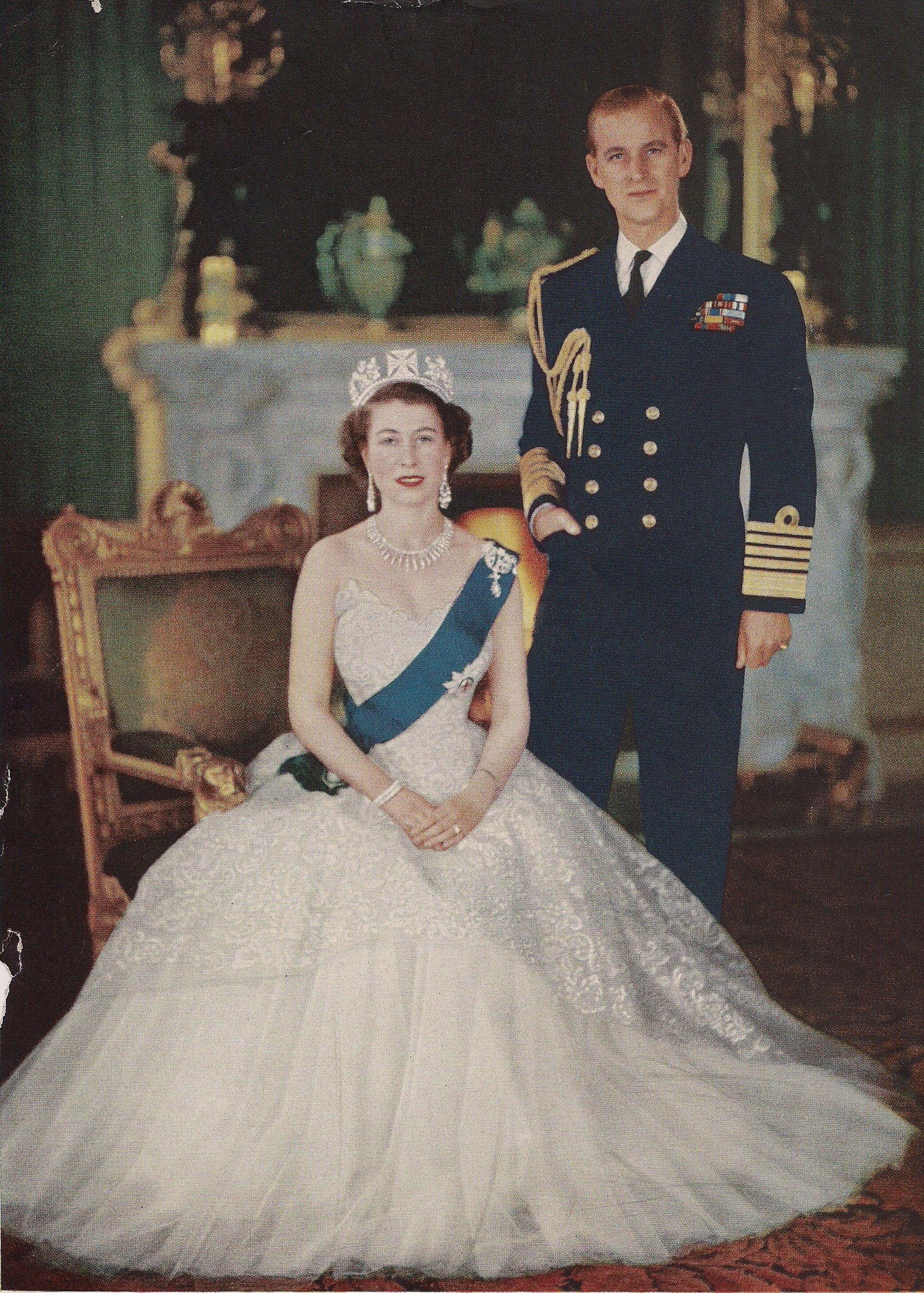 Queen Elizabeth II coronation portrait. When I was a
