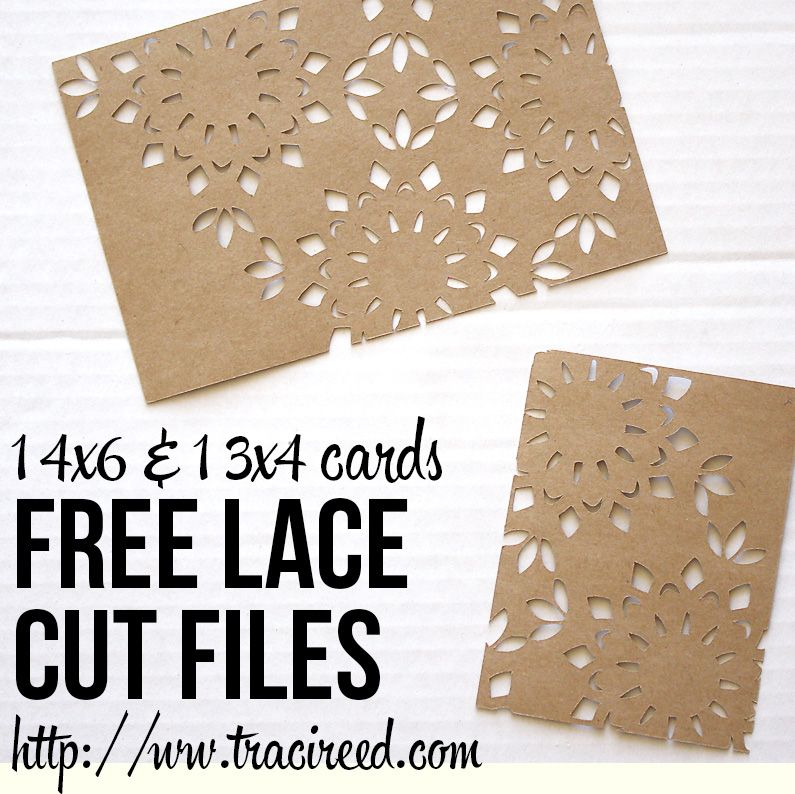 Free 3x4 and 4x6 Silhouette Lace Cut Cards from Traci Reed