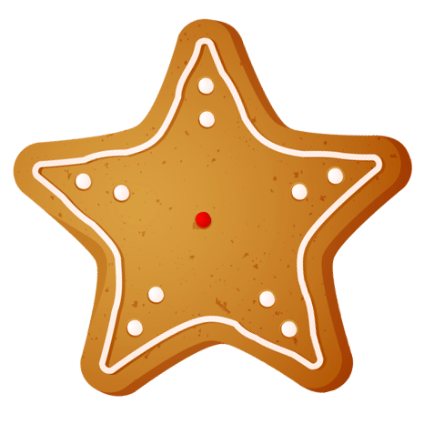 Transparent Christmas Star Cookie PNG Clipart