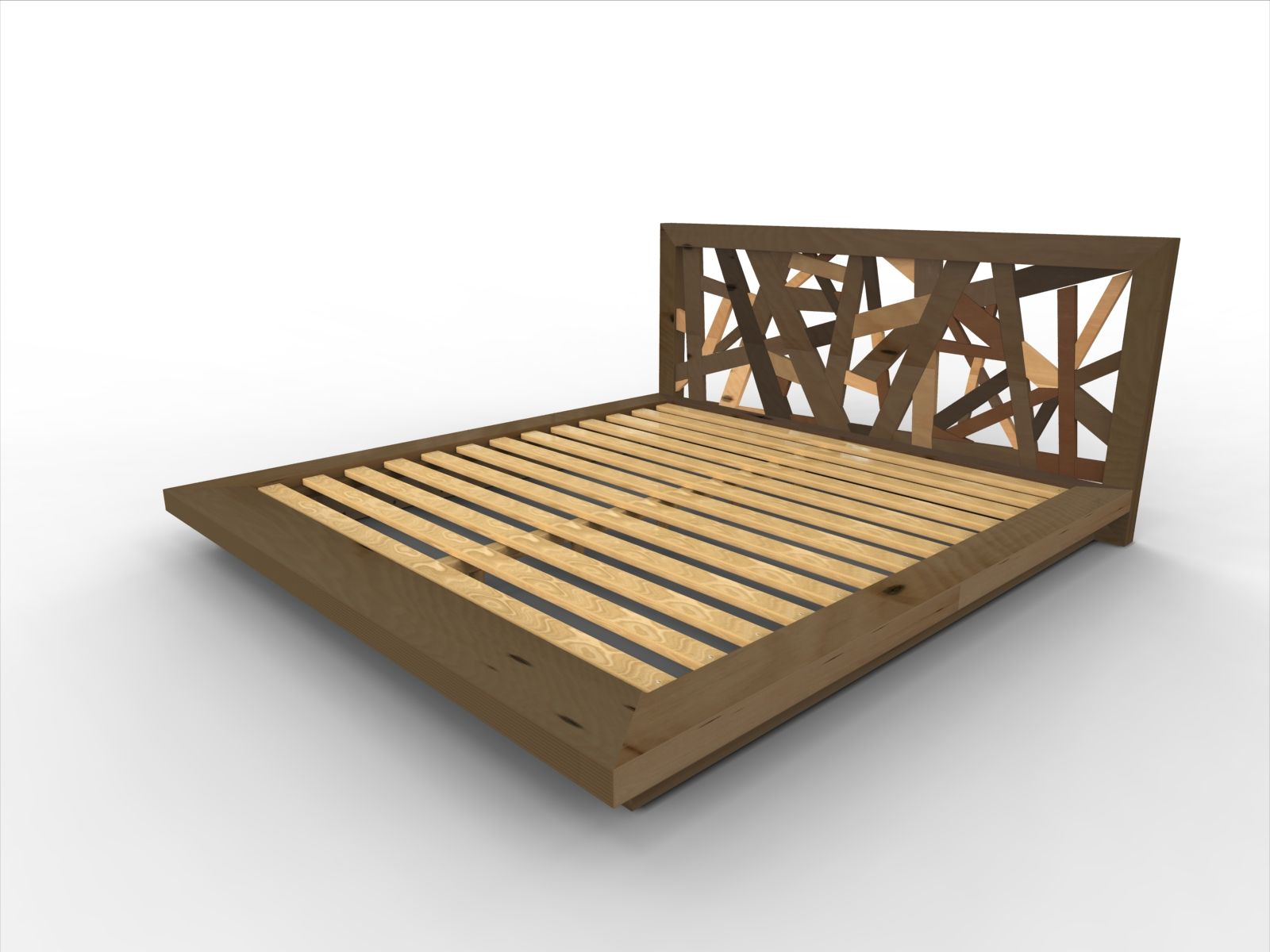 DIY Bed Frame with Storage The Lincoln Series Platform