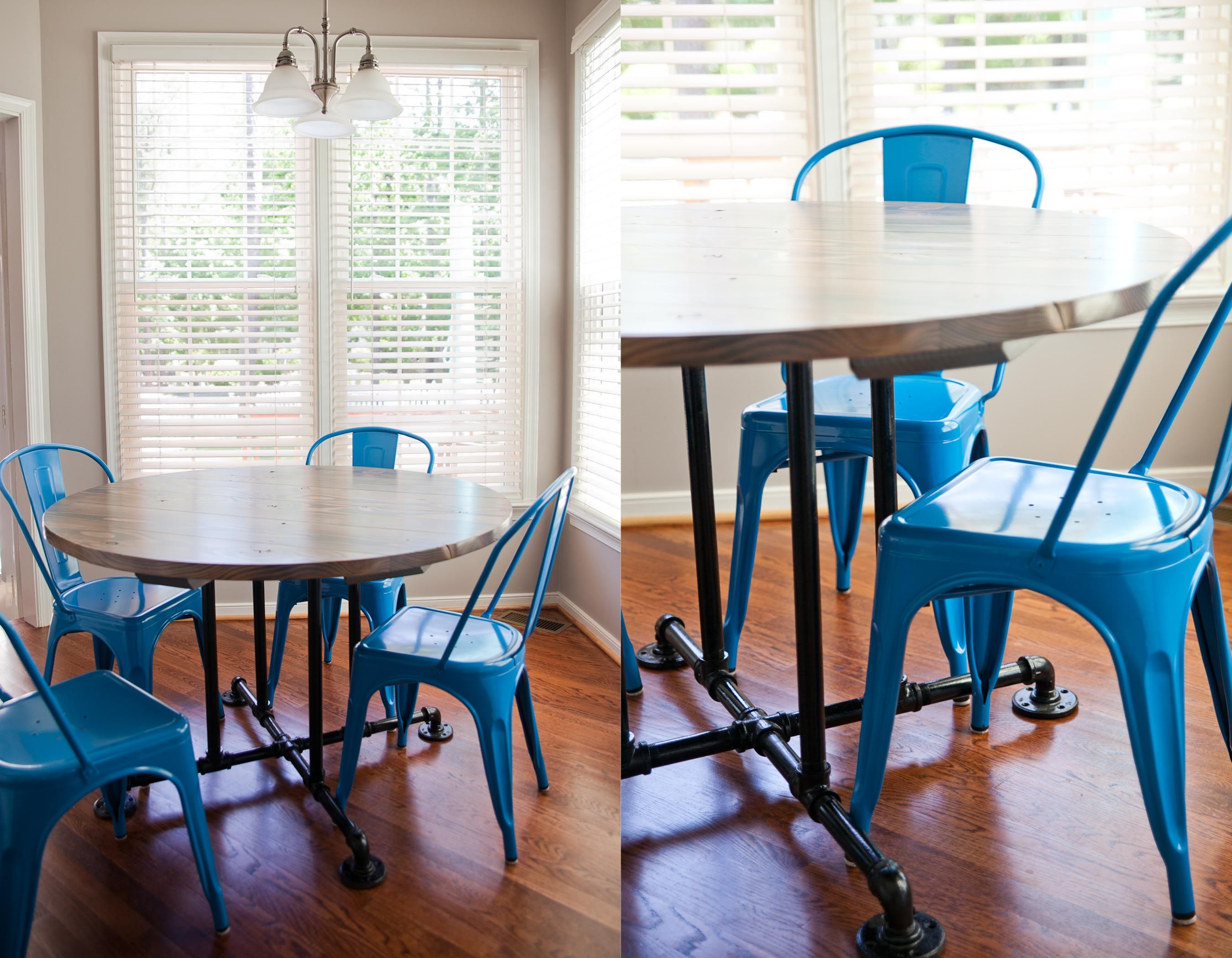 """54"""" Farmhouse table style. Round Kitchen table or dining"""