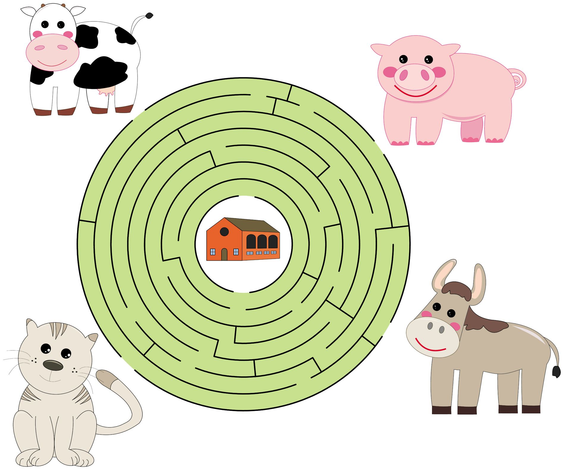 County Living Song And Farm Animals Maze