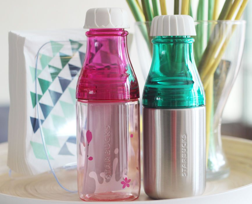 Details About Starbucks 2015 Sunny Silver Water Bottle