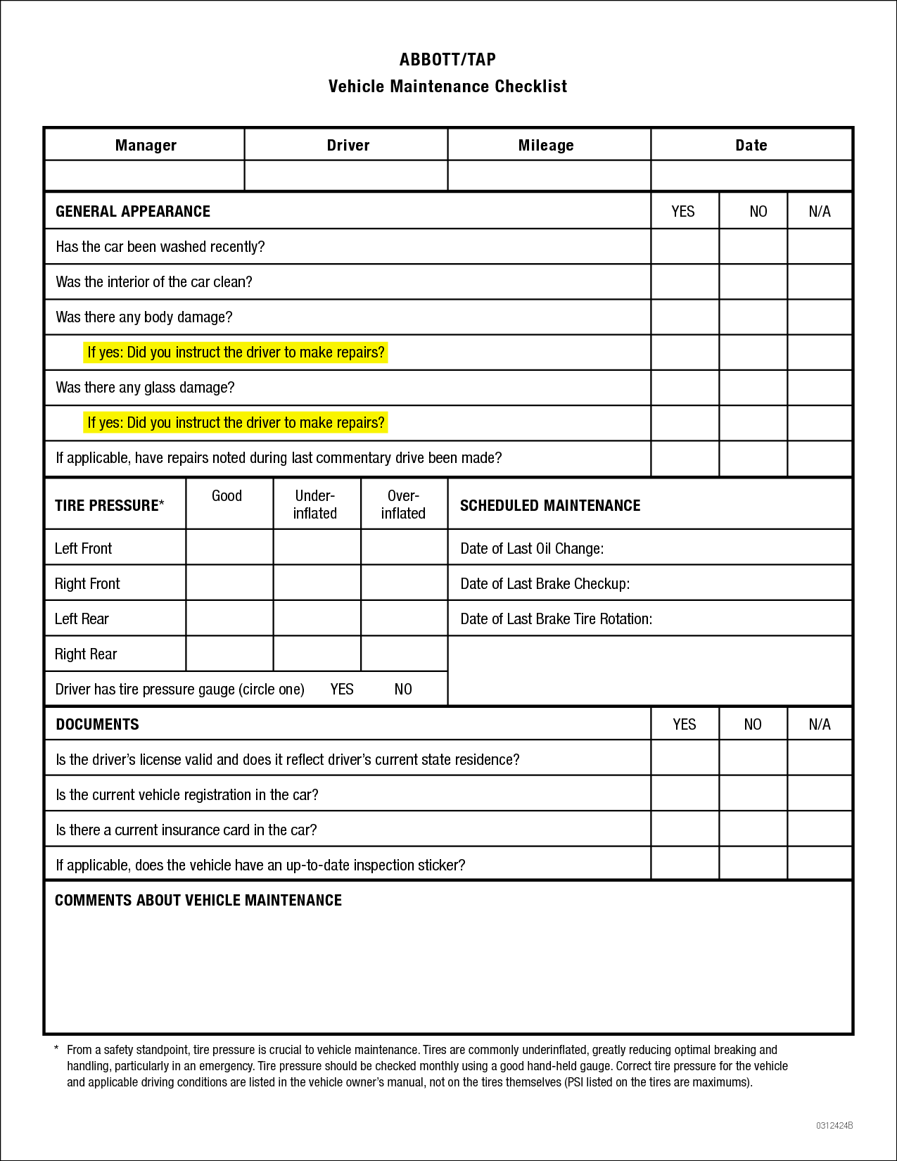 Vehicle Maintenance Checklist Template Want A Smart Way To
