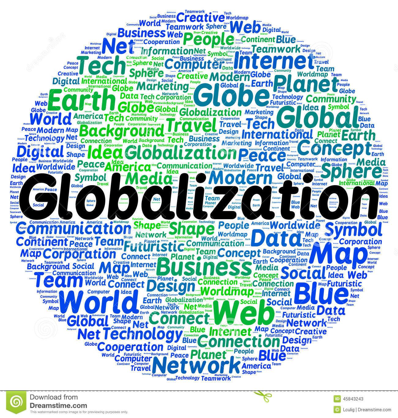 Globalization Word Cloud Shape Download From Over 42