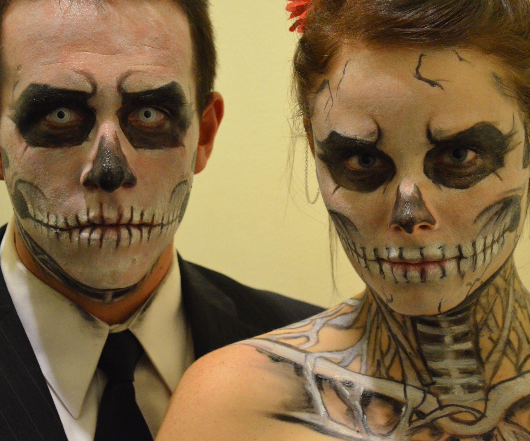 Skeleton Halloween Makeup Skeleton makeup, Halloween