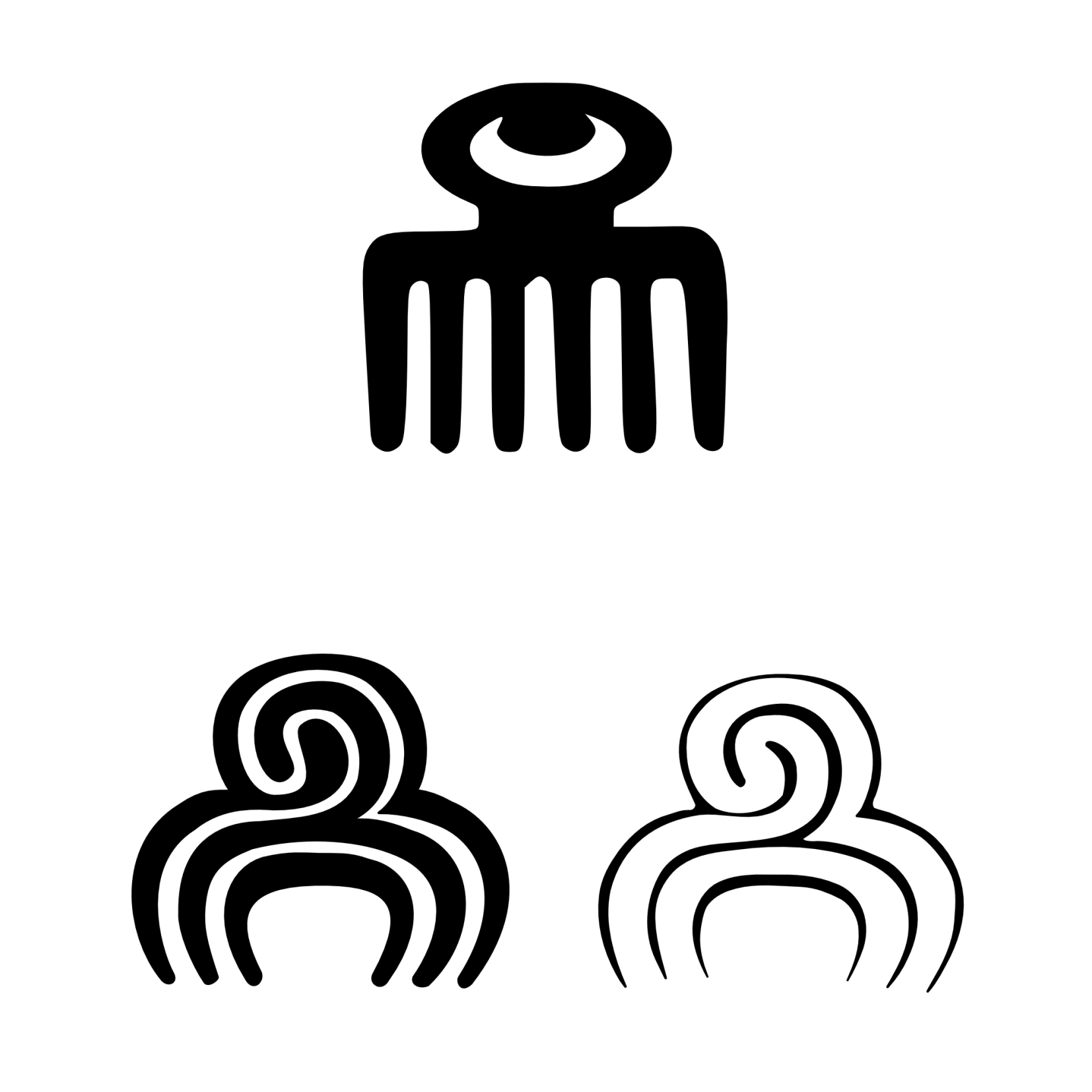 Duafe Adinkra Symbols Come From The Ashanti Tribes Of