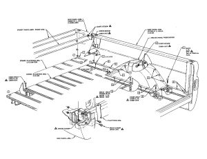 BED: Fleetside diagram   '60s Chevy C10  Body & Misc