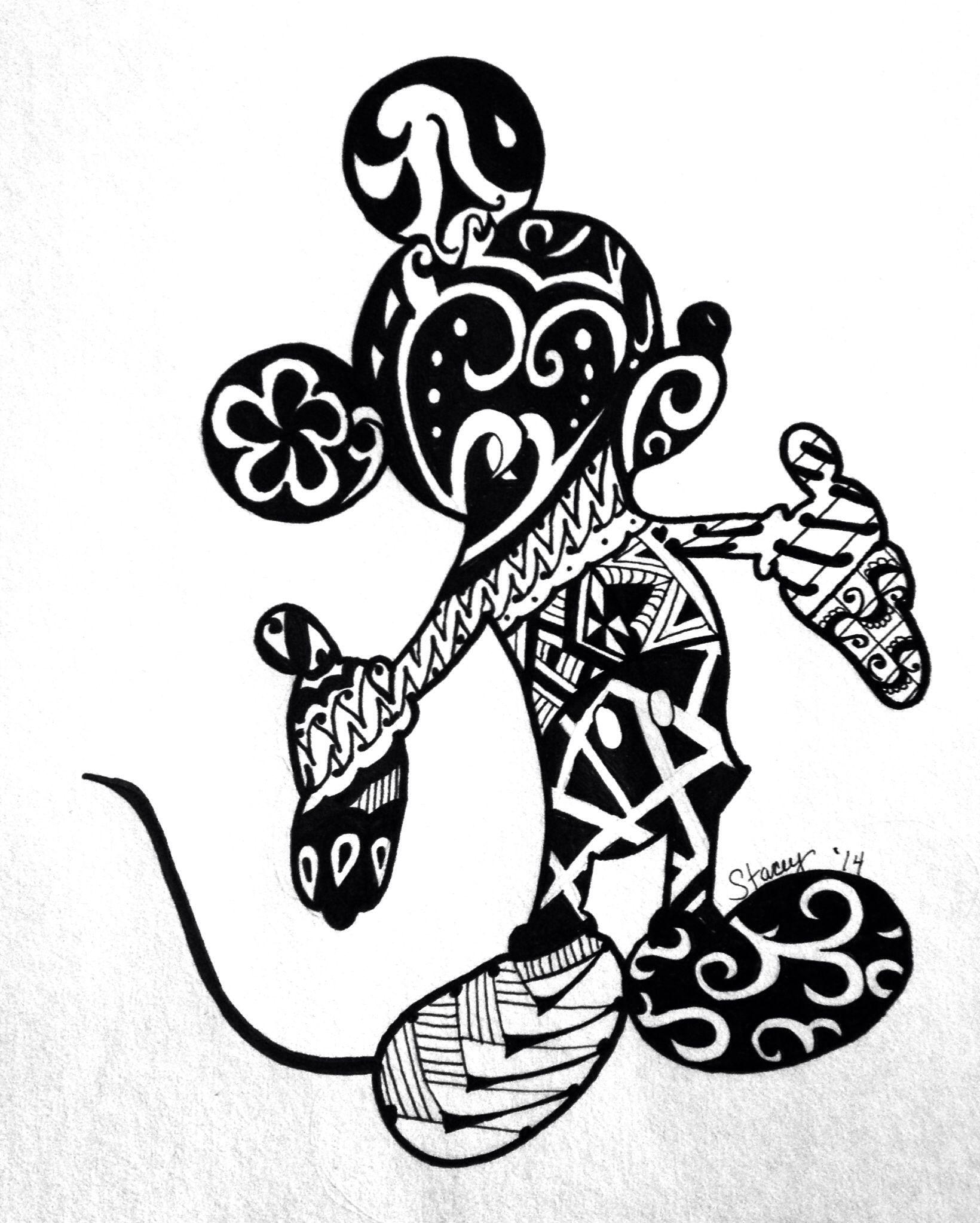 Mickey zentangle draw Pinterest Cricut, Mandala and