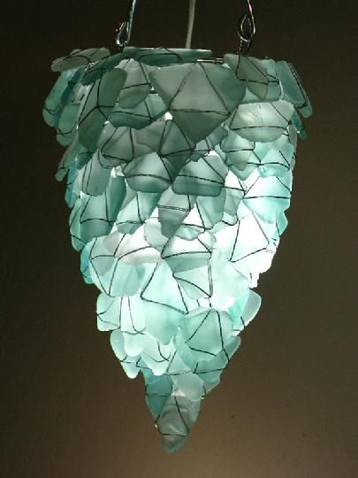 Chandelier From Sea Glass How Pretty Is This