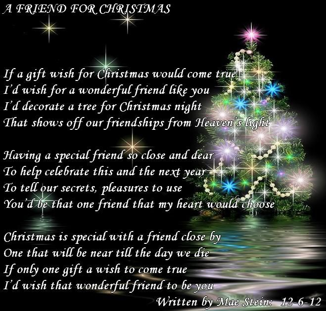 Merry Christmas Poems For Friends FRIEND FOR CHRISTMAS