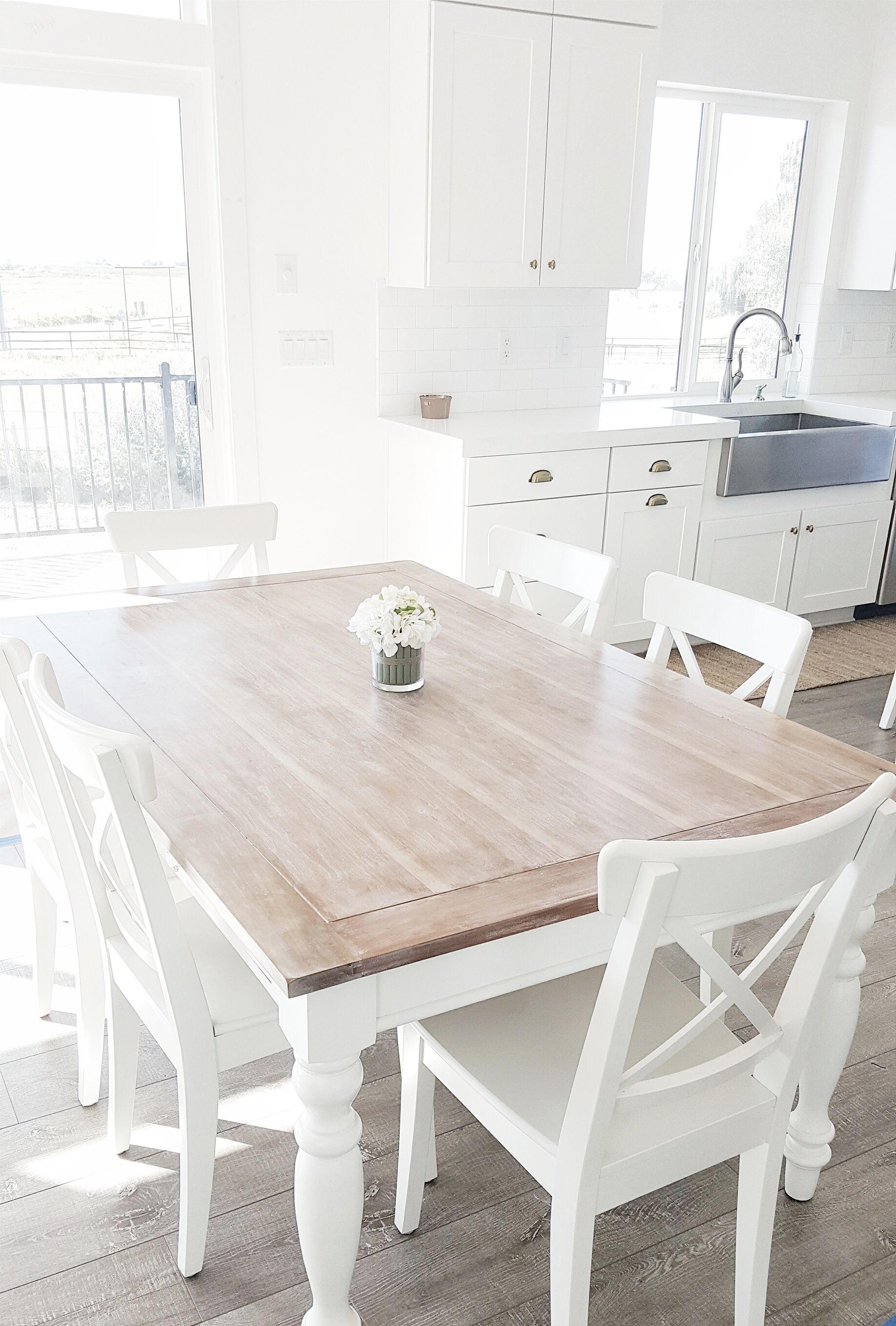 whitelanedecor whitelanedecor Dining room table, liming