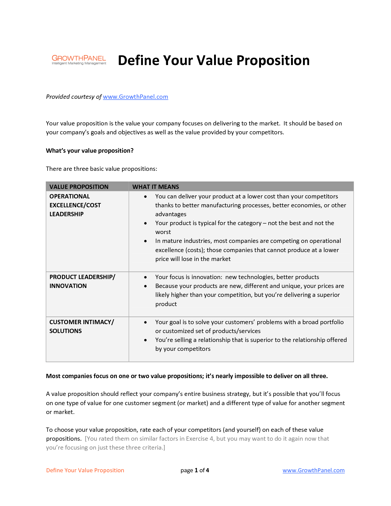 value proposition template public policy work {jam