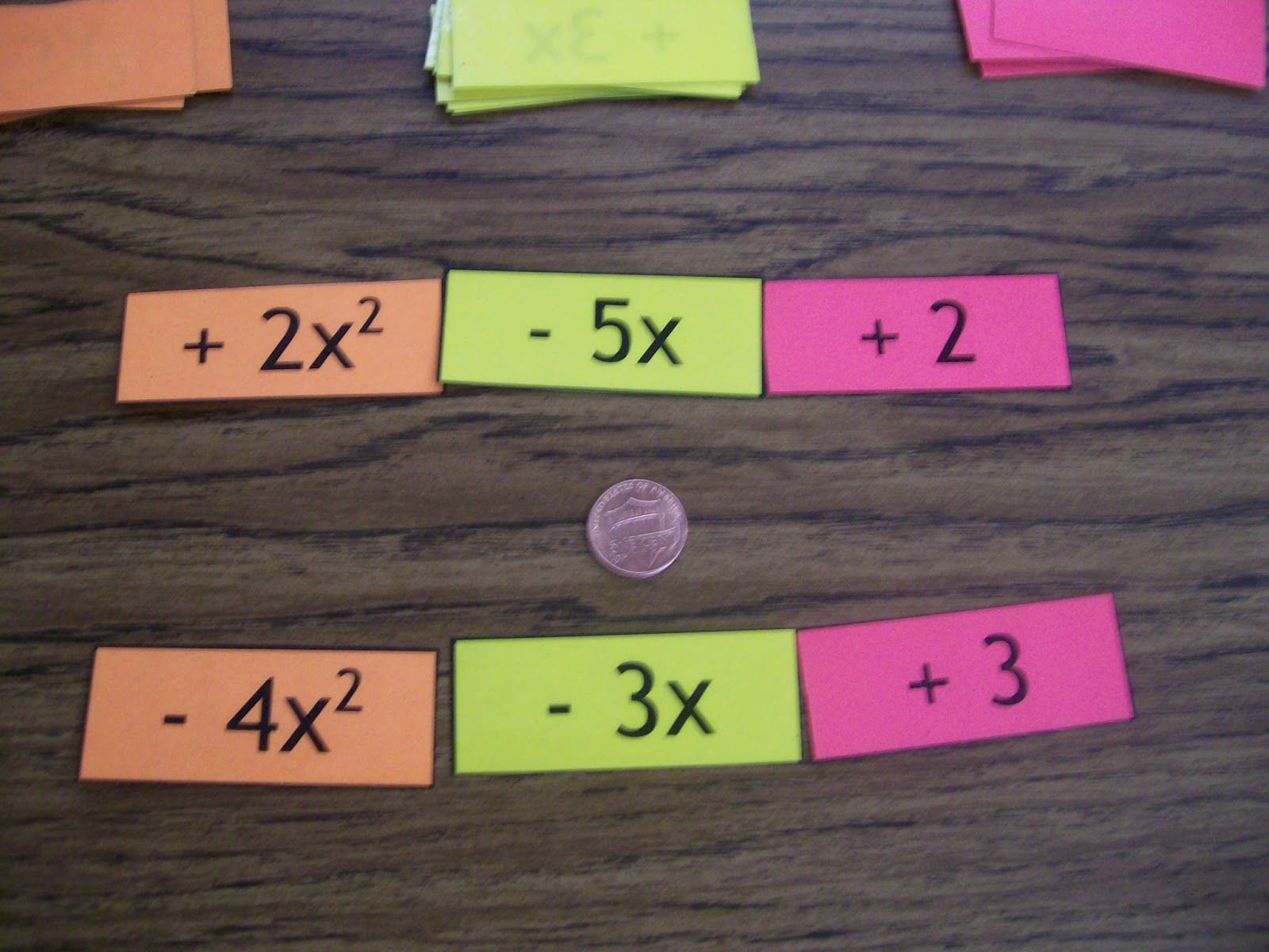 Math Love Adding And Subtracting Polynomials Activity I Tried A Similar Activity With My Co