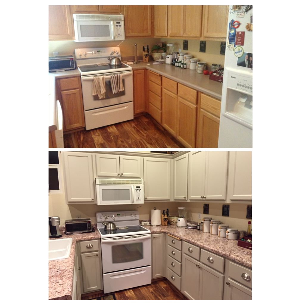 Finally finished my kitchen makeover!! Bye Bye ugly honey