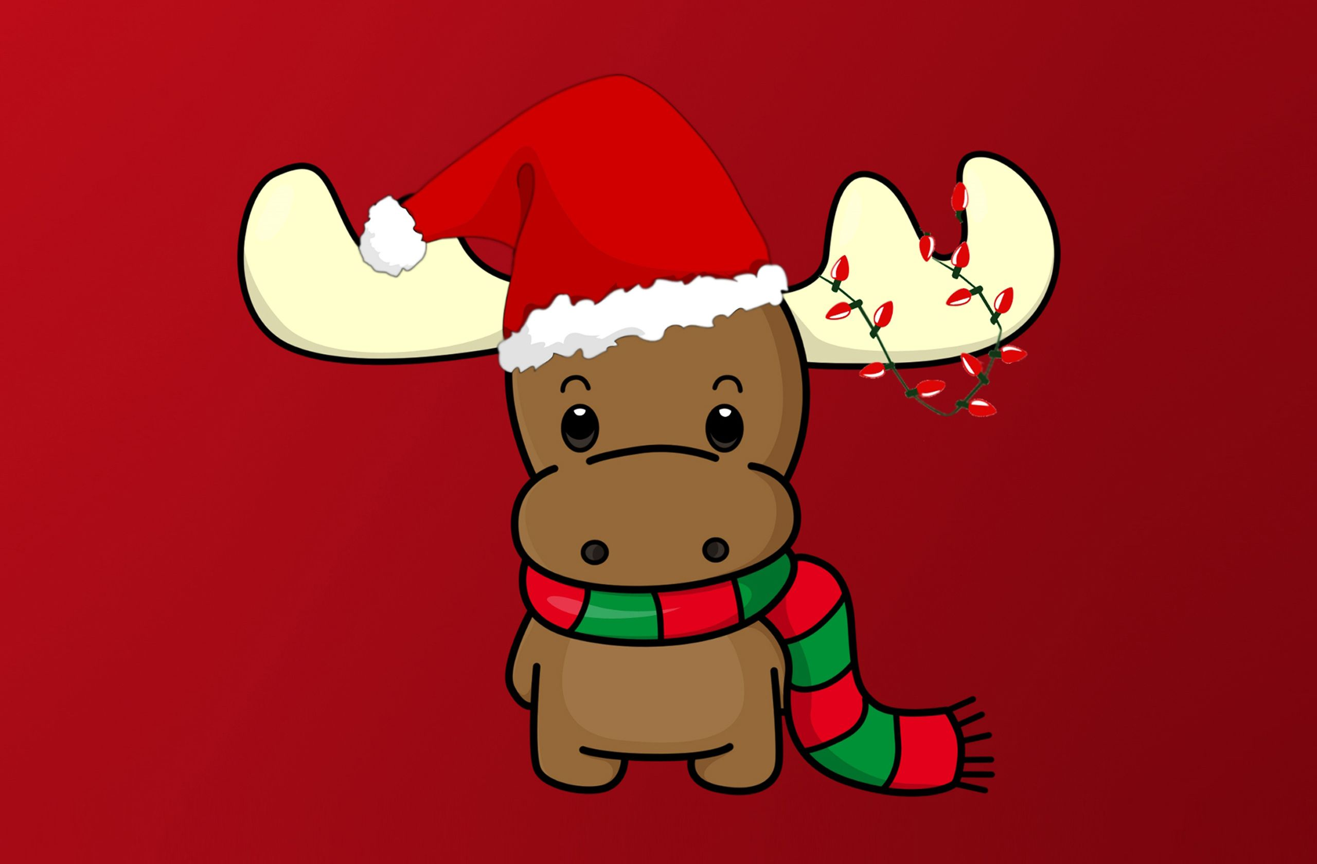 Cute christmas Reindeer HD Wallpaper GIRLWITHSWAG