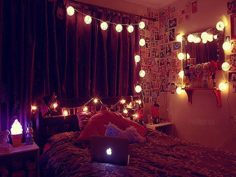 lantern string lights bedroom   lighting ideas   pinterest