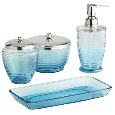 turquoise bathroom accessories   turquoise bath   decor by color