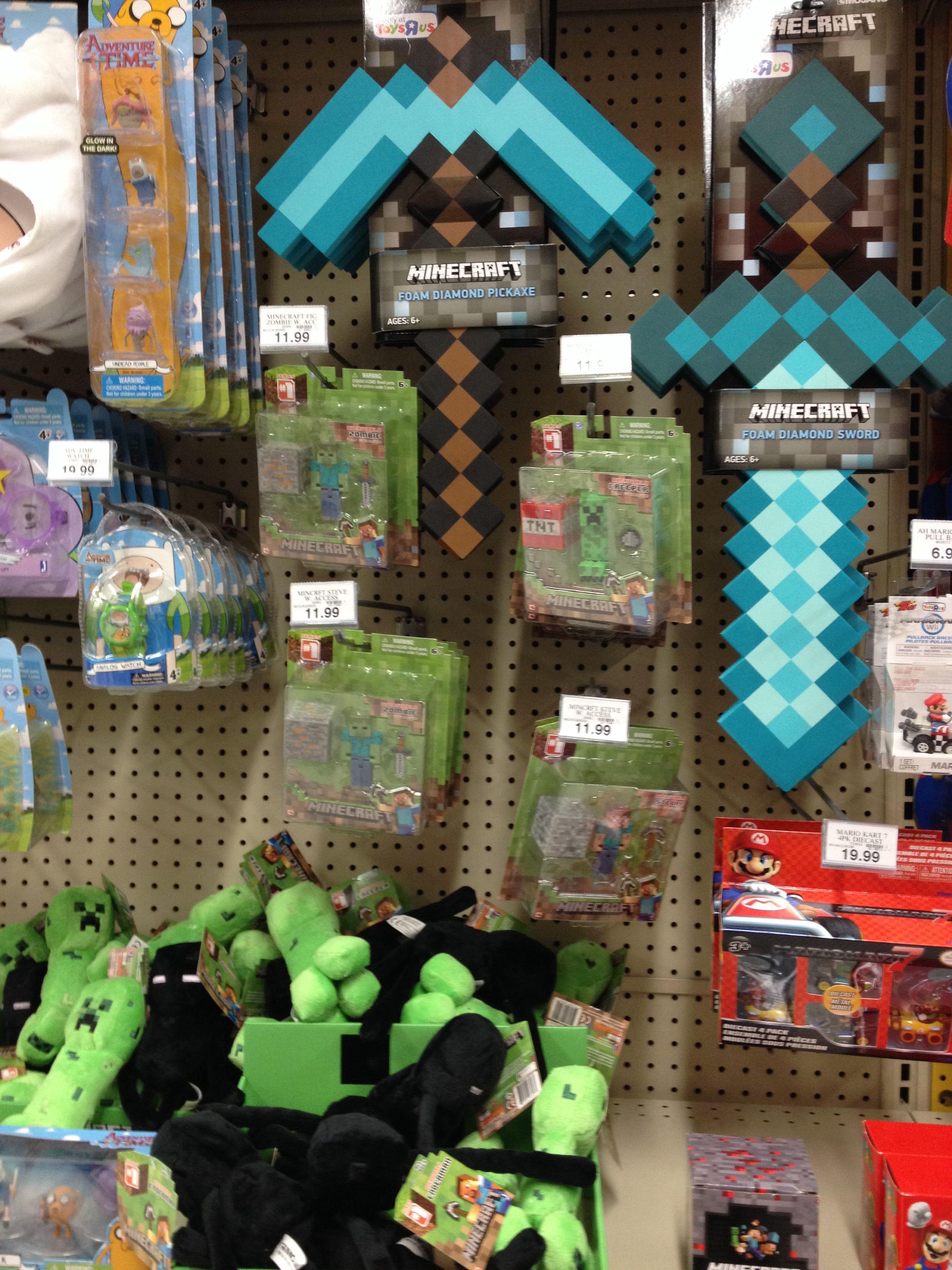 Gift ideas for Zack. Minecraft stuff Toys r us HEY
