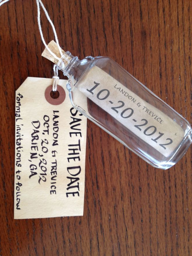 Diy save the date message in a bottle wedding ideas