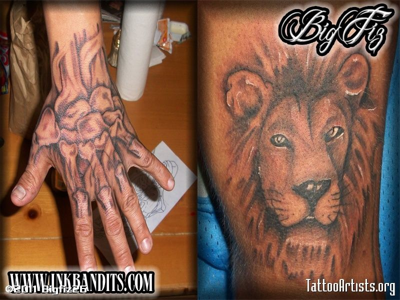 Hand And Lion Tattoo Designs Lion Hand