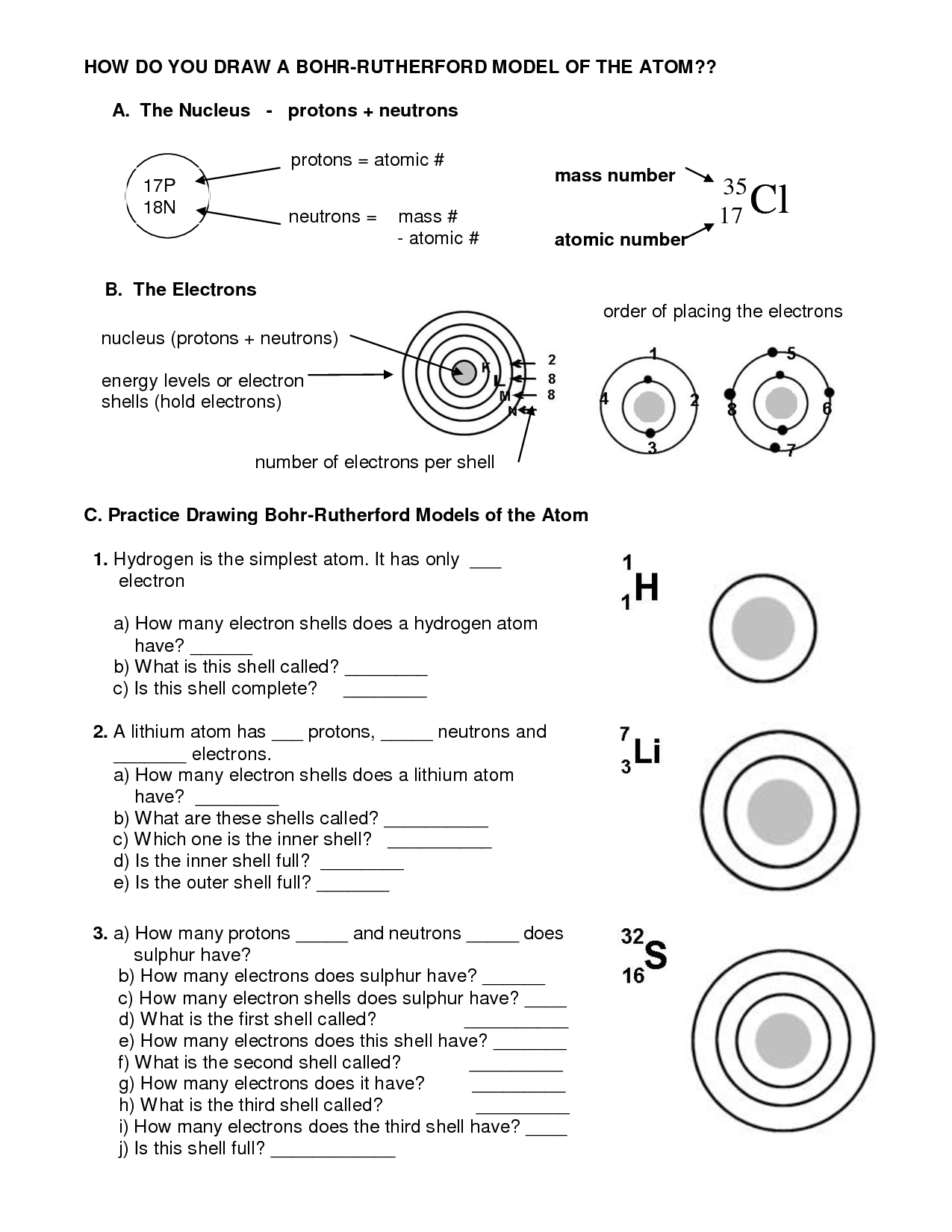 How To Do Bohr Diagrams