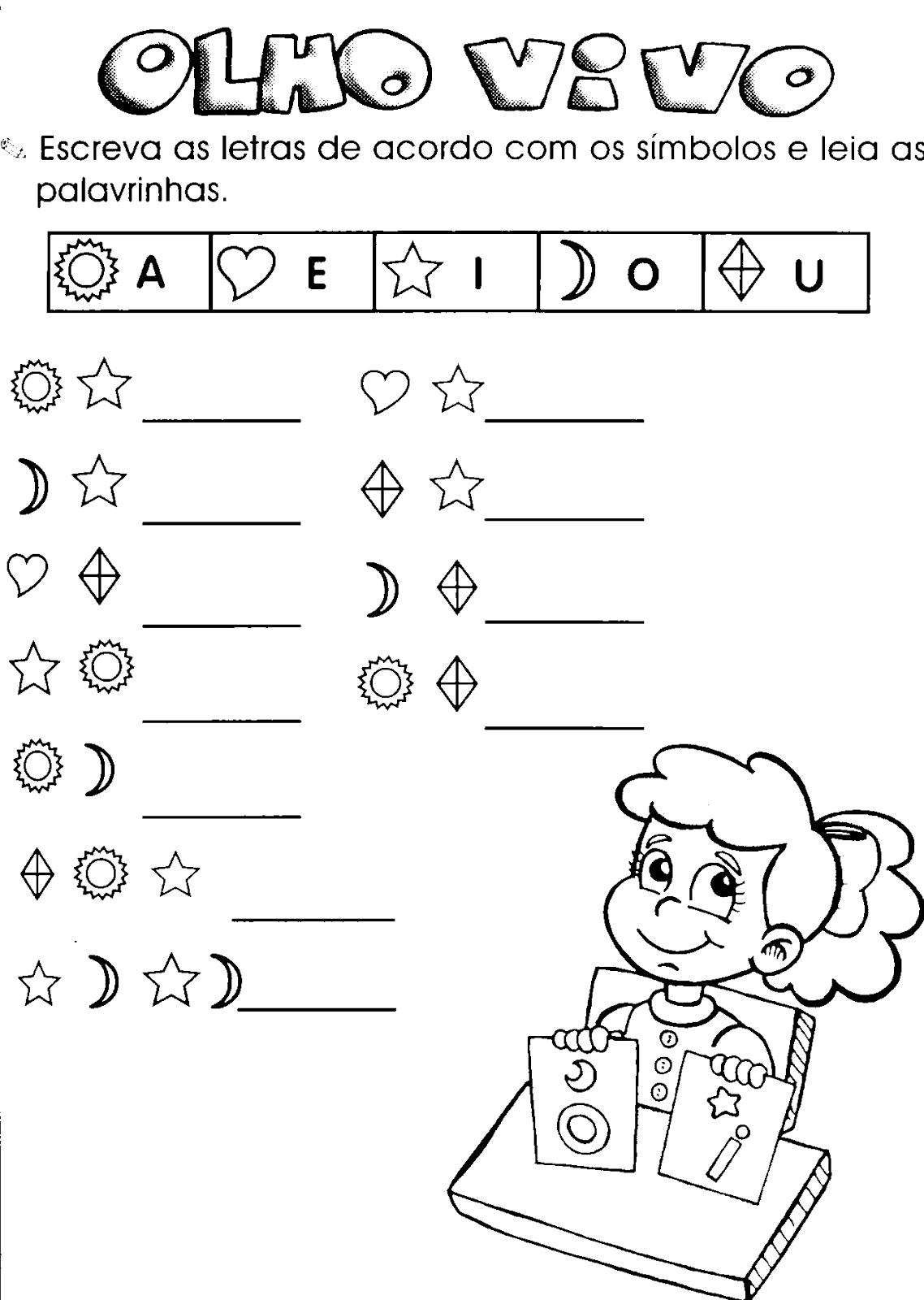 Atividades Com Vogais Para Alfabetizacao Infantil