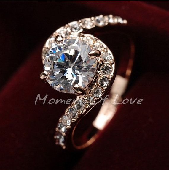Rose Gold Plated Women Ring Jewelry Ring Gift Wedding