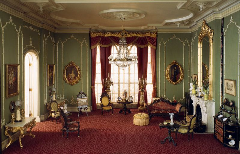 Mrs James Ward Thorne Miniature Period Rooms English Drawing Room Of The Victorian Period