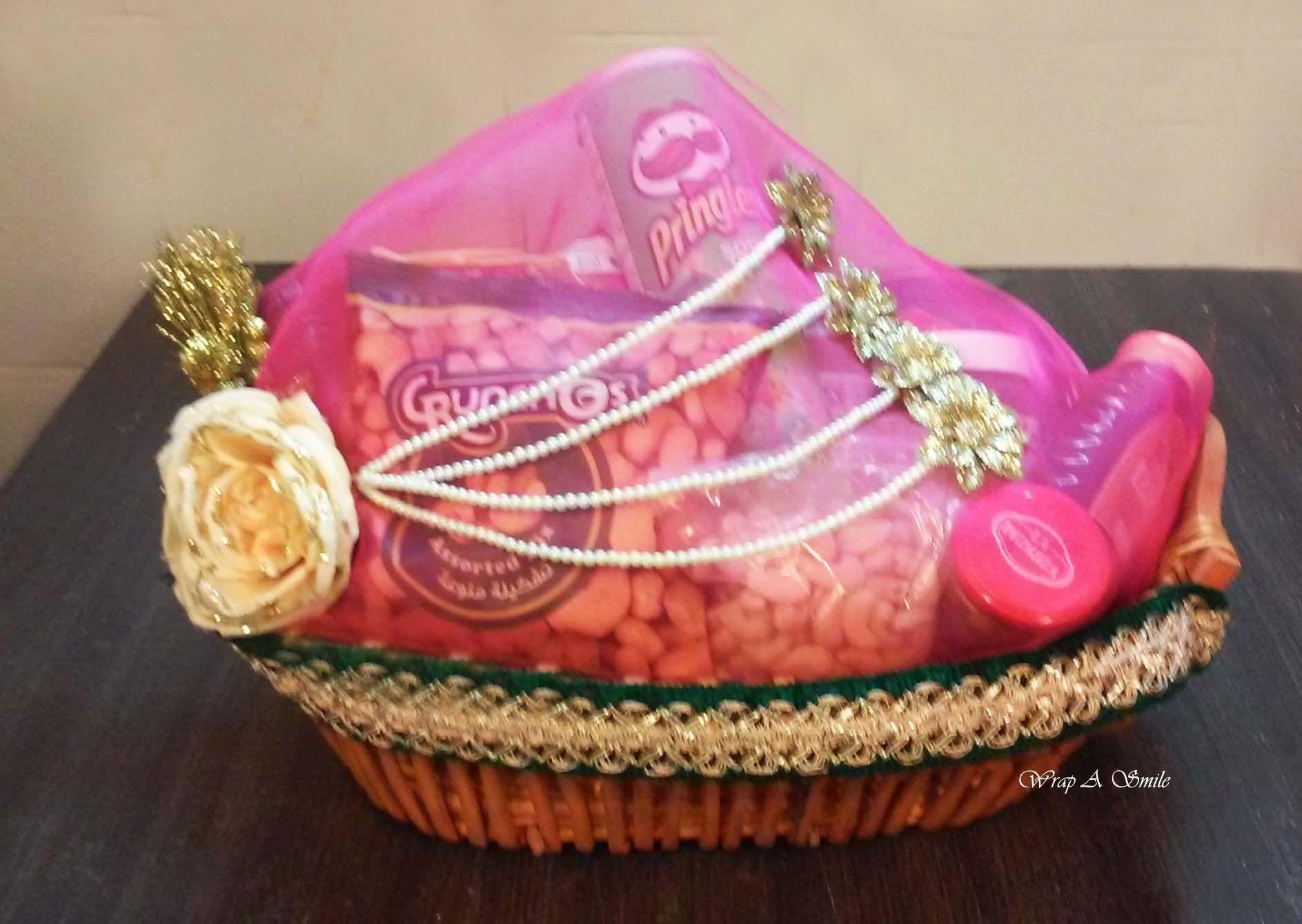 Shagun Wedding Hamper Baskets designed At Wrap A Smile