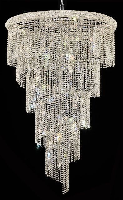 Empire Small Foyer Crystal Chandelier Beaded Lighting Fixture Tall I Want This Hanging Over My Piano