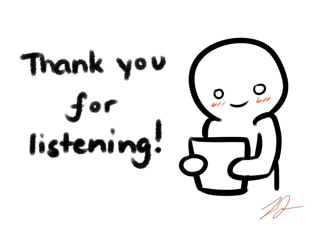 Thank You For Listening Card By Lyraeriviantart
